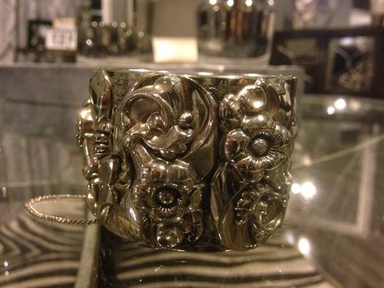Other Chunky Detailed Silver Large Cuff