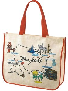 Marc Jacobs Shopper Usa Map Tote in Multi
