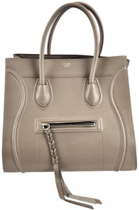 Céline Large Leather Tote in Taupe