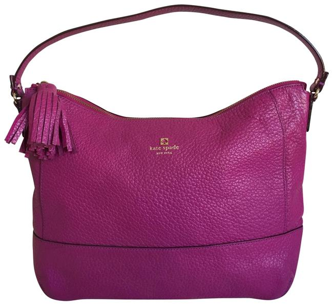 Item - Southport Avenue Cathy Magenta Leather Hobo Bag