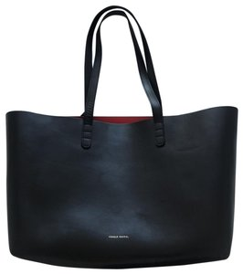 Mansur Gavriel Tote in Black / red interior