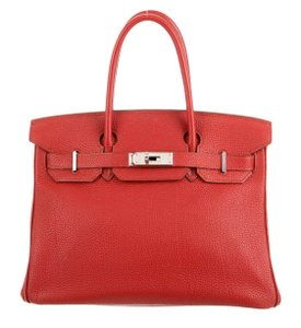Hermès Tote in Red (Rouge Vif Togo)
