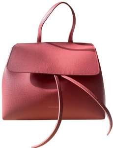 Mansur Gavriel Pink Saffiano Leather Cross Body Bag