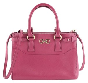 Salvatore Ferragamo Leather Satchel in Pink