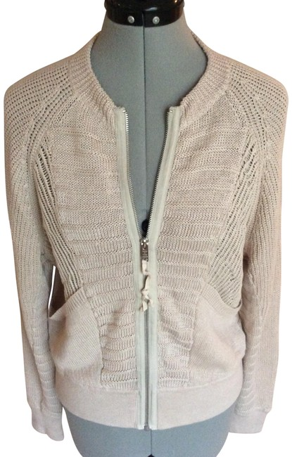 Item - Oatmeal Knitted Jacket Cardigan Size 12 (L)