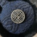 Chanel Rabbit Fur Tweed Cc Earmuffs Blue Black Hat Chanel Rabbit Fur Tweed Cc Earmuffs Blue Black Hat Image 3