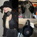Chanel Rabbit Fur Tweed Cc Earmuffs Blue Black Hat Chanel Rabbit Fur Tweed Cc Earmuffs Blue Black Hat Image 10