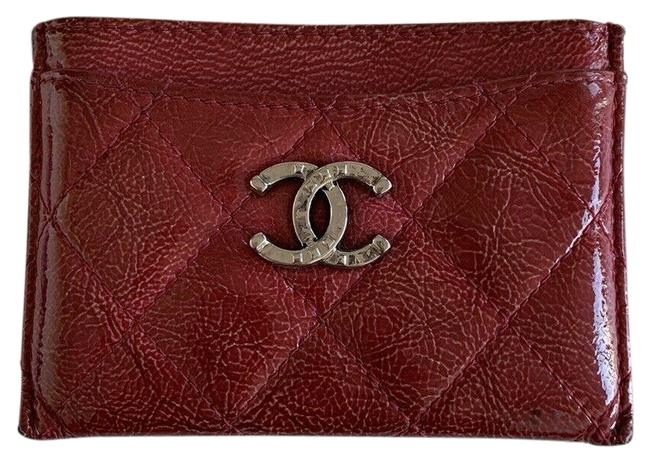 Chanel Red Rare Quilted Matelasse Cc Patent Leather Card Holder Wallet Chanel Red Rare Quilted Matelasse Cc Patent Leather Card Holder Wallet Image 1