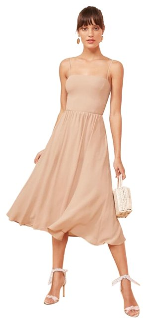 Item - Champagne Rosehip Mid-length Cocktail Dress Size 4 (S)