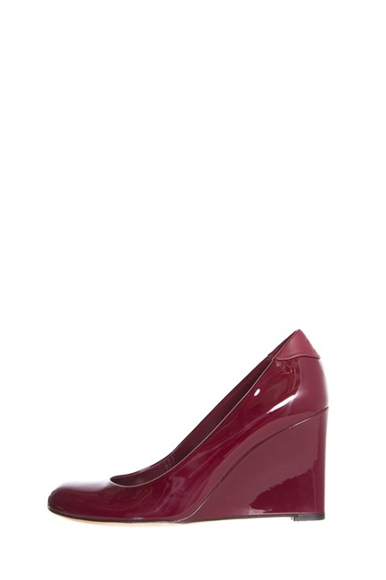 Item - Burgundy Patent Leather Wedges Size EU 37.5 (Approx. US 7.5) Regular (M, B)