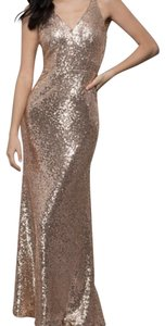 Night Way Collections Maxi A-line Full Length Evening Sequin Dress