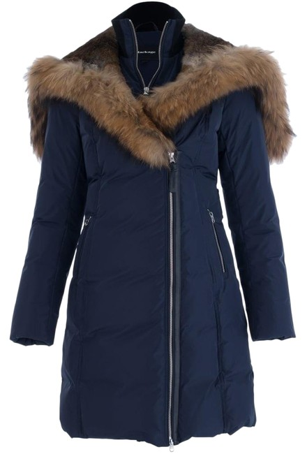 Item - Navy Trish Mid-length Down Coat Size 0 (XS)