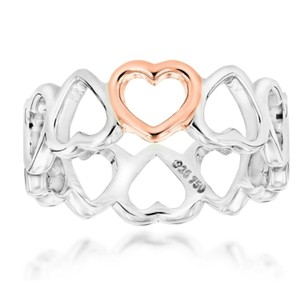 Tiffany & Co. 18k gold and silver infinity hearts ring