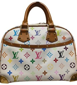 Louis Vuitton Satchel in Multicolored white