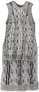 Stella McCartney Dress High Low Cable Knit Sweater