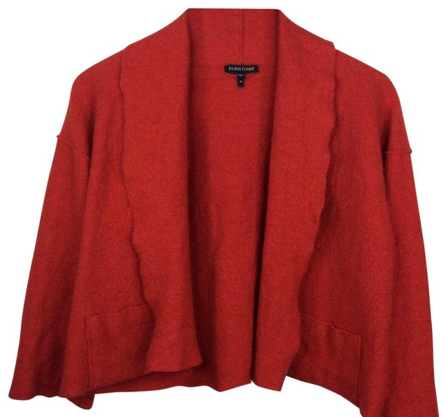 Item - Red Cropped Wool Cardigan Coat Size 8 (M)