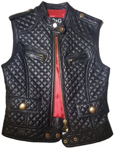 Dolce&Gabbana Quilted Leather Gold Hardware Vest
