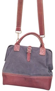 Wood & Faulk Waxed Canvas Leather Water-repellant Water-resistant Unisex Cross Body Bag