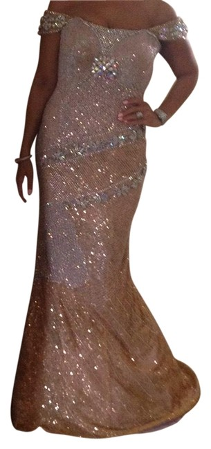Item - Nude Custom Made Evening Gown Long Formal Dress Size 6 (S)