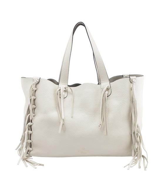 Item - C-rockee (153453) White Leather Tote