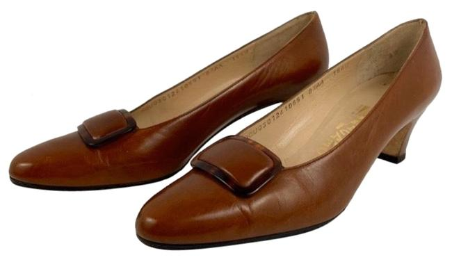 Item - Brown Leather Pumps Size US 8.5 Narrow (Aa, N)