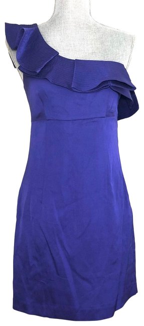 Item - Purple Intrigue One-shoulder Mid-length Cocktail Dress Size 2 (XS)