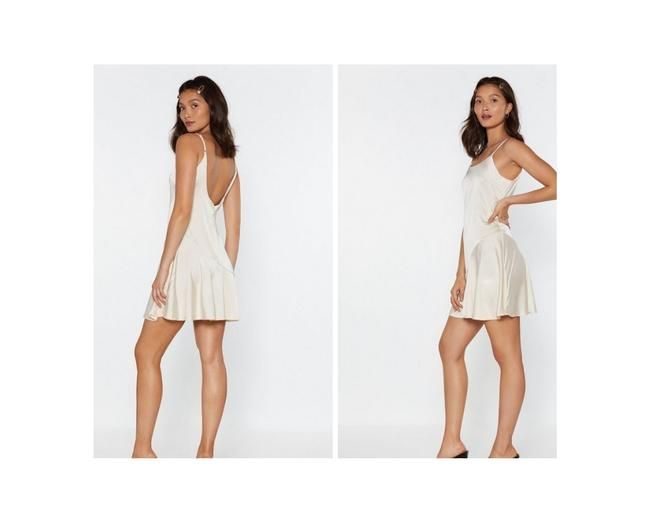 Item - Ivory So Vain Satin Short Cocktail Dress Size 6 (S)