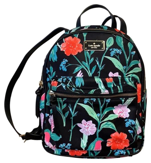 Item - Floral Garden Bird Multicolor Backpack