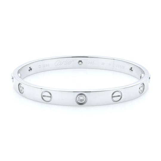 Preload https://img-static.tradesy.com/item/26701623/cartier-18k-white-gold-love-six-diamond-size-16-bracelet-0-0-540-540.jpg