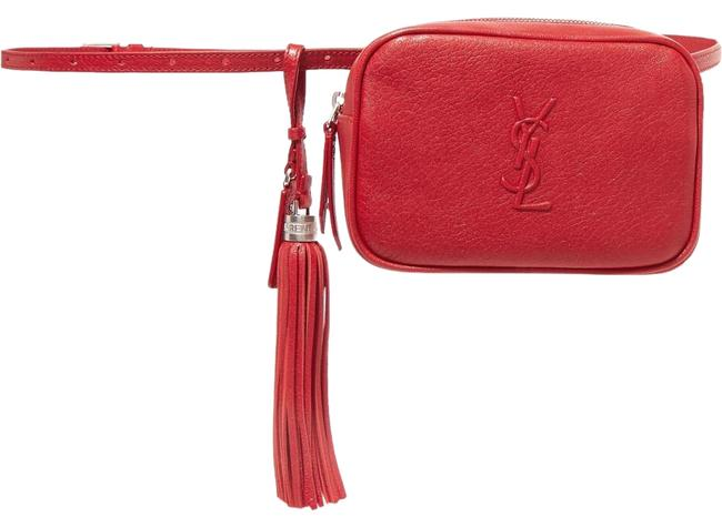 Item - Belt Lou Monogramme Textured Red Leather Cross Body Bag