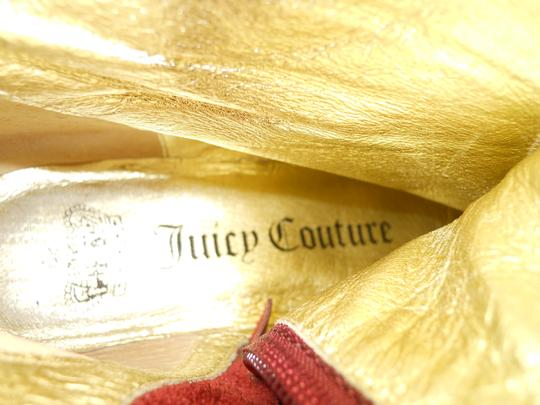 Juicy Couture Leather Riding burgandy Boots