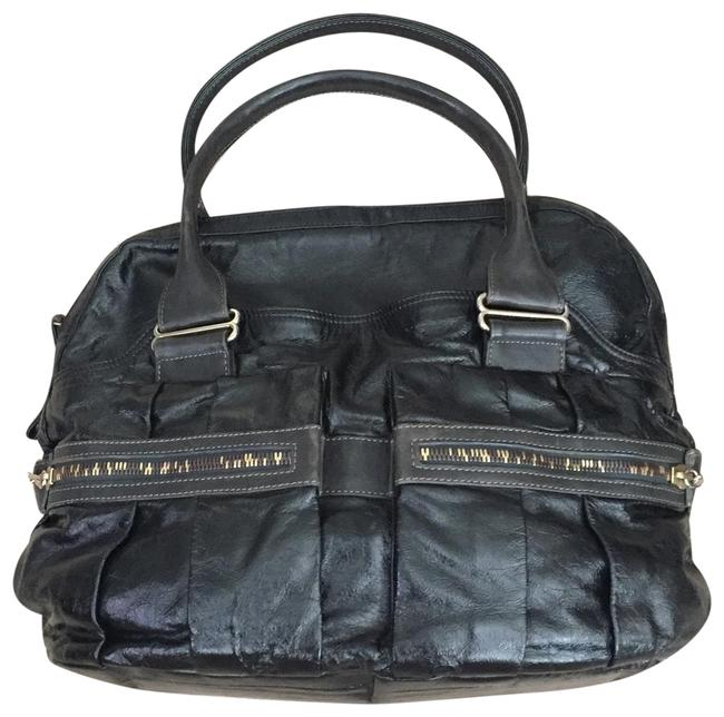 Item - See By Black & Gold Patent Leather Fabric Lining Tote