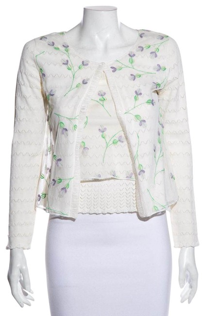 Item - Multicolor Cheap & Chic Embroidered Cardigan Size 2 (XS)