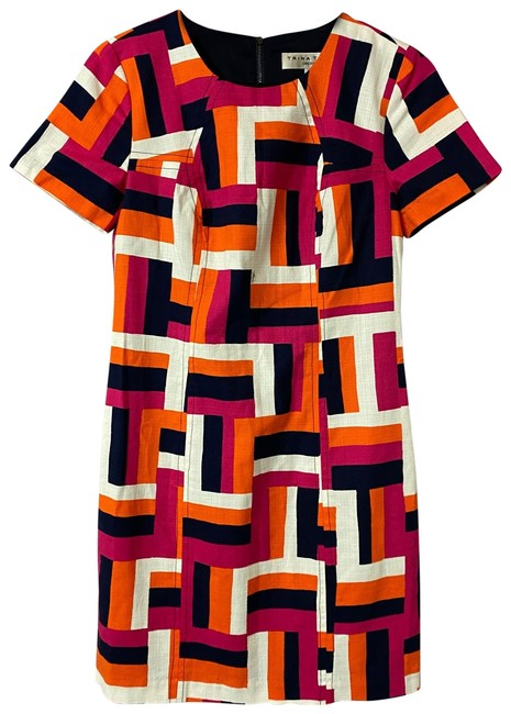 Item - Multicolor Color Cotton Short Work/Office Dress Size 2 (XS)