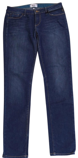 Item - Blue Dark Rinse Denim Jimmy Jimmy Slim Stretch Soft Boyfriend Skinny Jeans Size 28 (4, S)