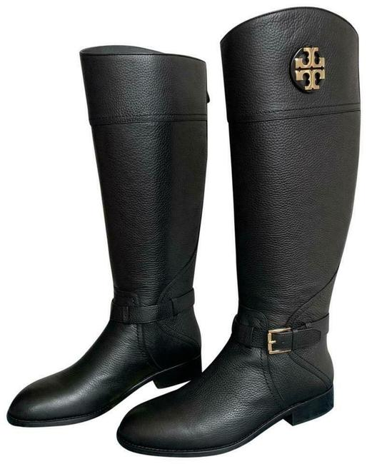 Item - Black Claire Tumbled Leather Reva Riding Boots/Booties Size US 6 Regular (M, B)