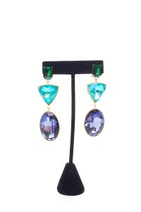 Shourouk SHOUROUK Blue & Green Cascade Earrings