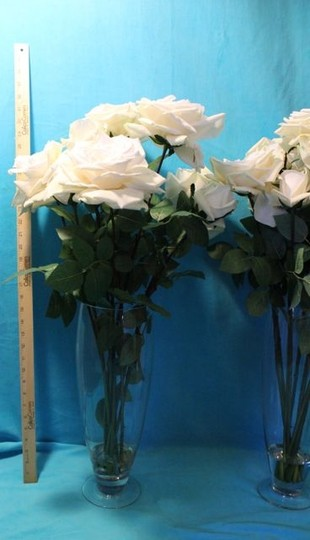 Ivory Silk Floral Vases Ceremony Decorations