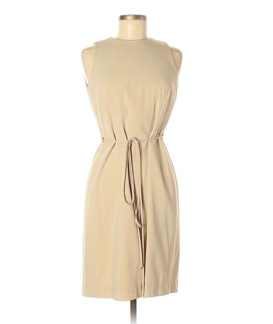 Item - Beige Crepe Wrap with Keyhole Back Short Casual Dress Size 6 (S)