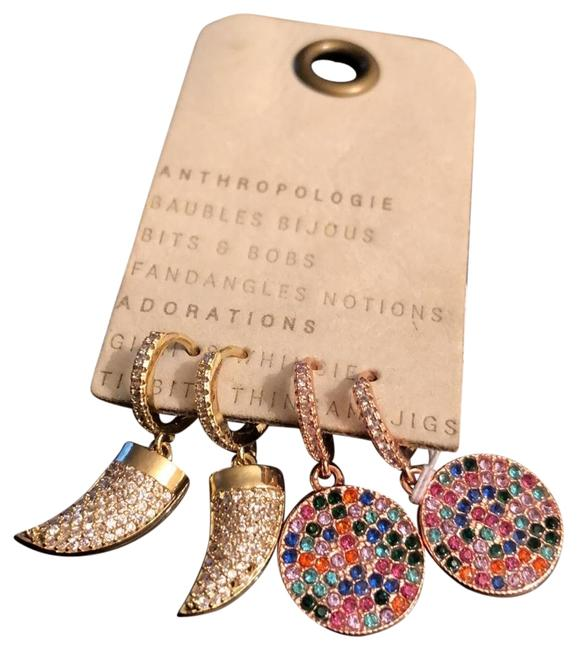 Item - Rose Gold/Gold Set Of Two Pear Crystal Pave Earrings