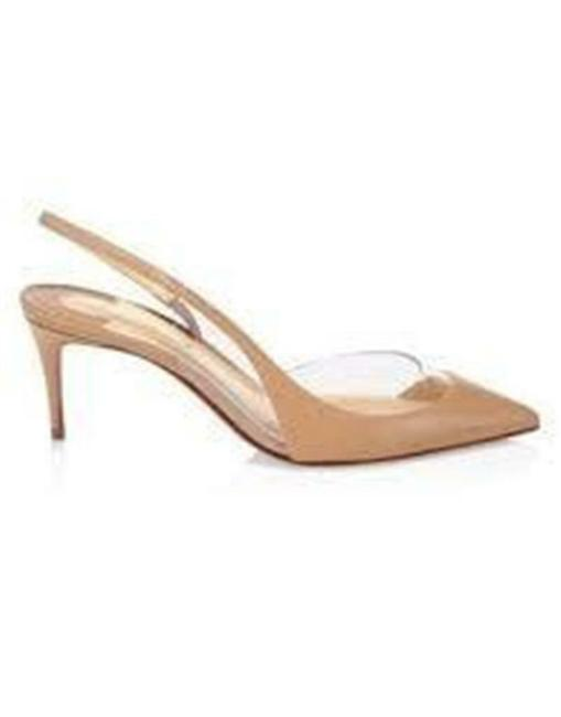 Item - Nude Optisexy 70 Pvc Leather Slingback Heels Pumps Sandals Size EU 39.5 (Approx. US 9.5) Regular (M, B)