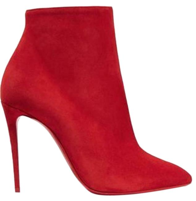 Item - Red Eloise 100 Suede Ankle Heels Boots/Booties Size EU 38 (Approx. US 8) Regular (M, B)