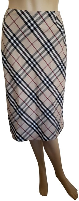 Item - Beige London Nova Check Plaid Wool Midi Skirt Size 2 (XS, 26)
