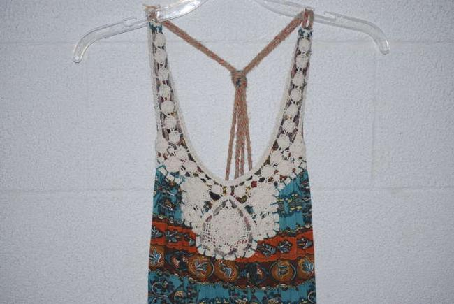 Forever 21 short dress multi Hobo Lace Rope Tribal Blue Brown Orange Turquoise Multi-color on Tradesy