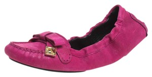 Burberry Leather Detail Ballet Pink Flats