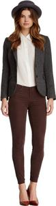 AG Adriano Goldschmied 5-pocket Super Corduroy Fabric Embroidery Stitching Some Stretch Skinny Jeans