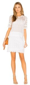 Ulla Johnson short dress White Beach Vacation Lace Embroidered Cotton on Tradesy