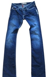 Buckle Boot Cut Jeans-Dark Rinse