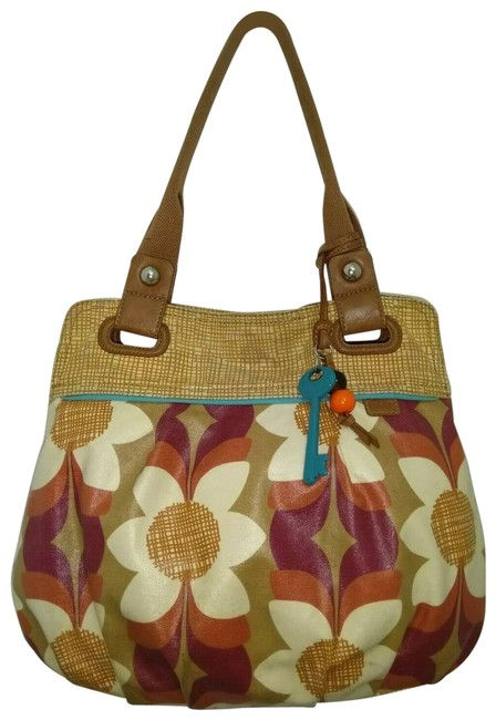 Item - Hobo Keyper Flowers Printed Tote Multi Color Canvas Shoulder Bag