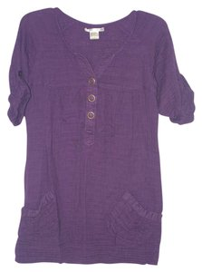 Charlotte Russe short dress Eggplant Purple 3/4 Sleeves on Tradesy